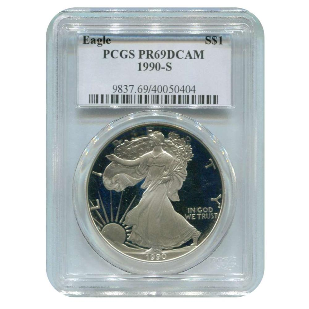 Certified Proof Silver Eagle 1990-S PR69DCAM PCGS #IRS98330