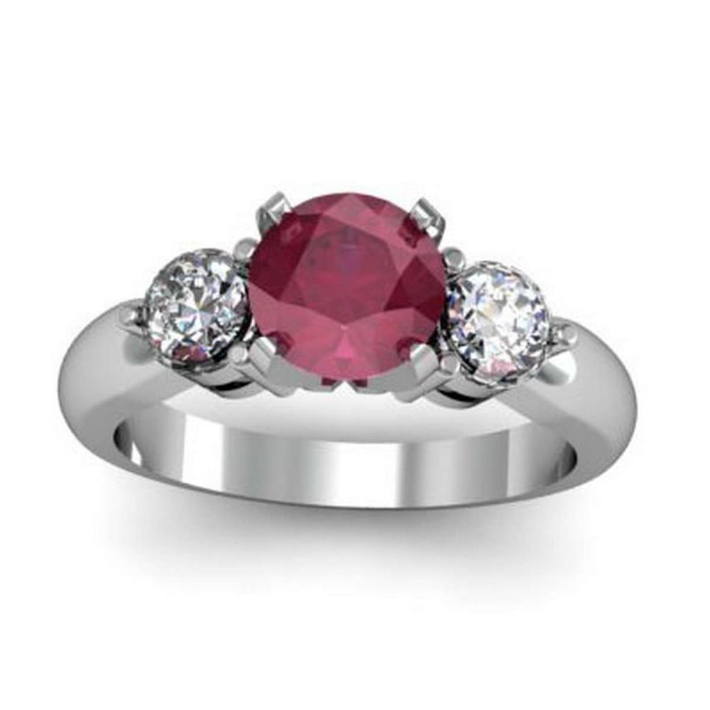 Genuine 1.65 ctw Ruby Diamond Whte/Yllw Gold 10kt #IRS11952