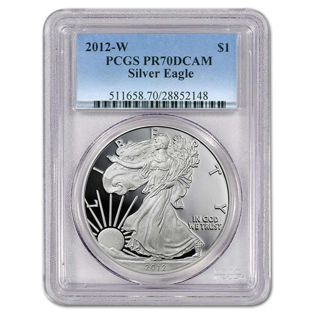 Certified Proof Silver Eagle 2012-W PR70DCAM PCGS #IRS98339