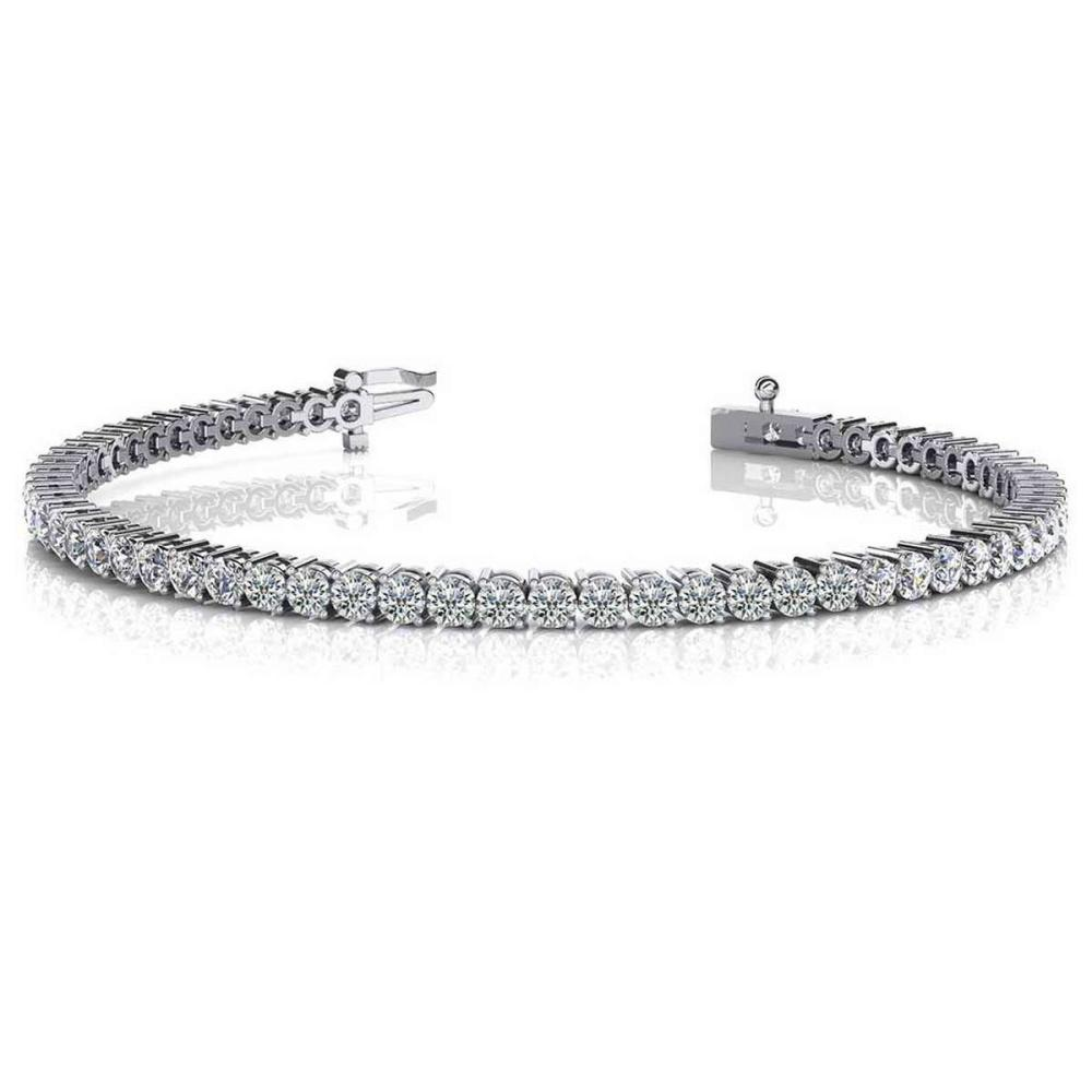 14K WHITE GOLD 1.50 CTW G-H VS2/SI1 2 PRONG SET ROUND DIAMOND TENNIS BRACELET #IRS19877