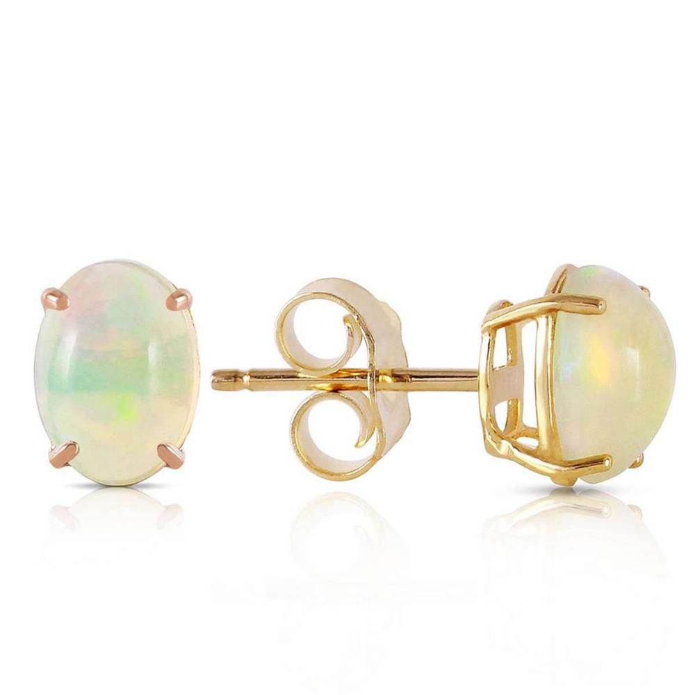 0 9 Carat 14k Solid Gold Pina Colada Opal Earrings Irs93808