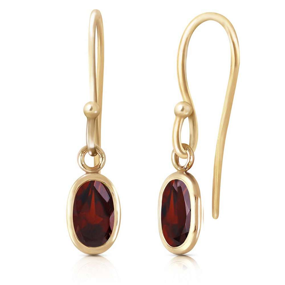 1 carat 14k solid gold fish hook earrings garnet irs93493 for Solid gold fish