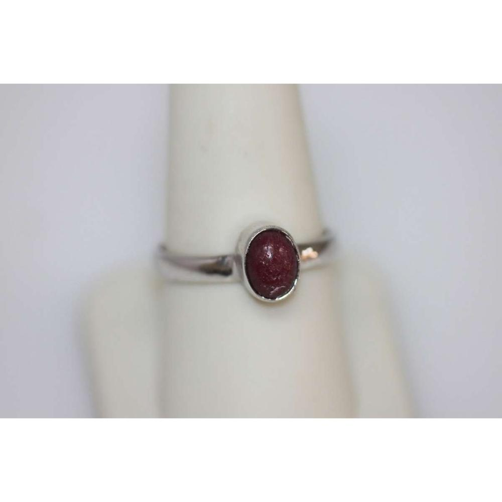 1.75 CTW RUBY RING .925 STERLING SILVER #IRS45843