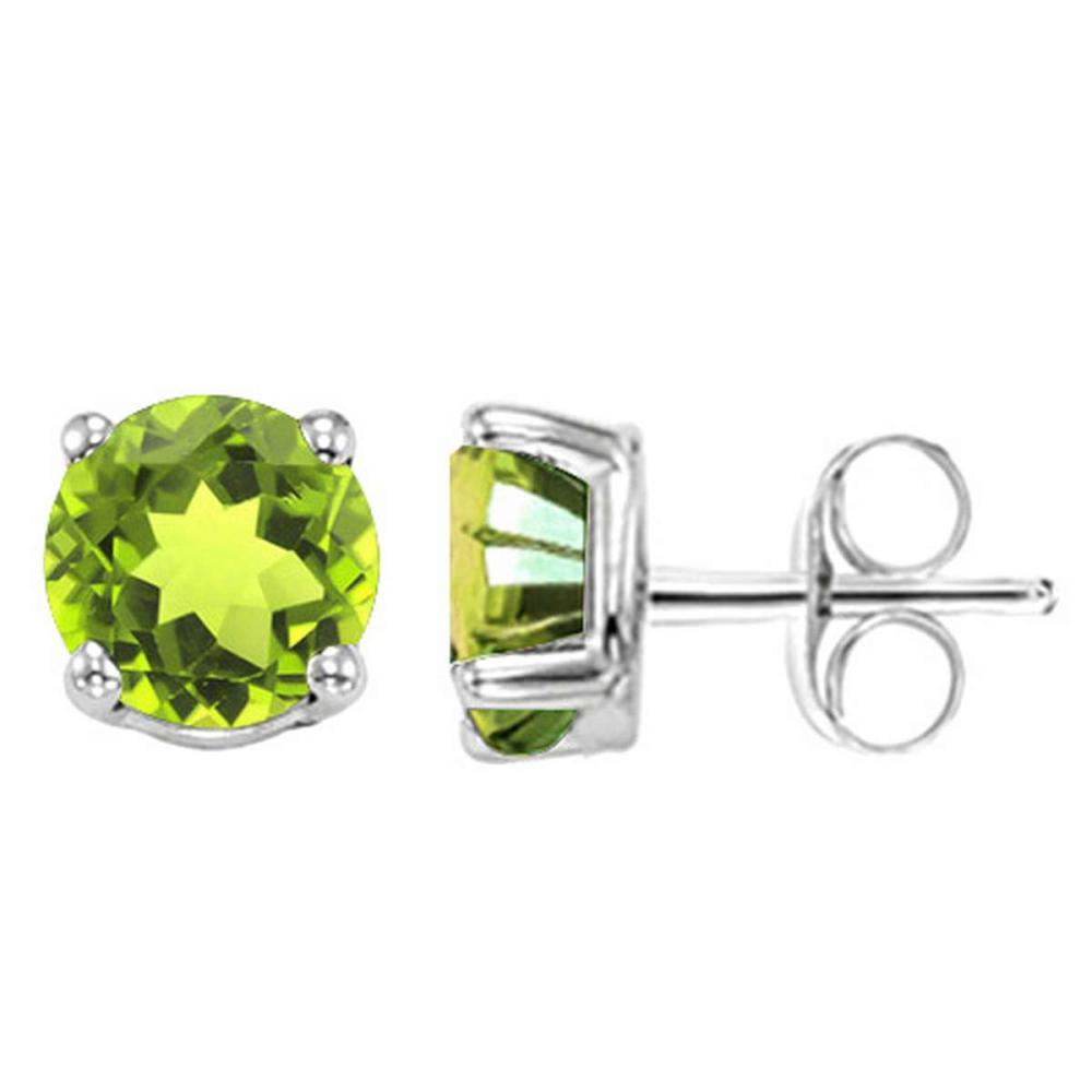1.82 CT PERIDOT 10KT SOLID WHITE GOLD EARRING #IRS93671