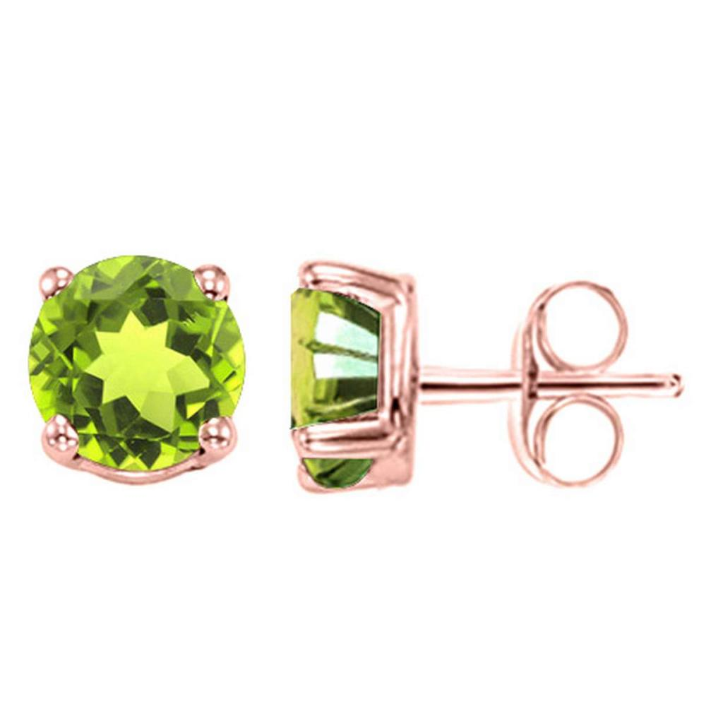 1.82 CT PERIDOT 10KT SOLID ROSE GOLD EARRING #IRS93695
