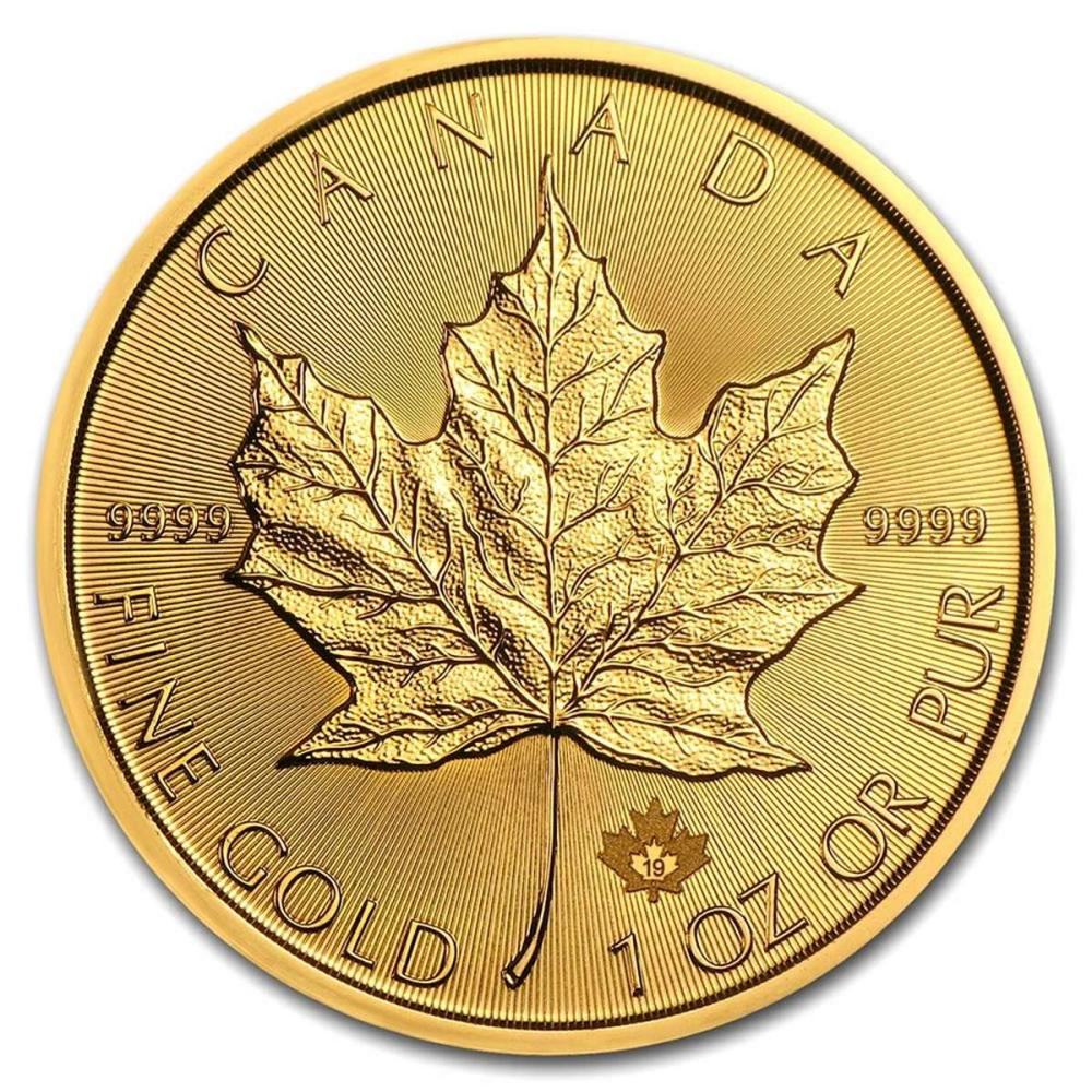 2019 1 oz Canadian Gold Maple Leaf Uncirculated #IRS80984