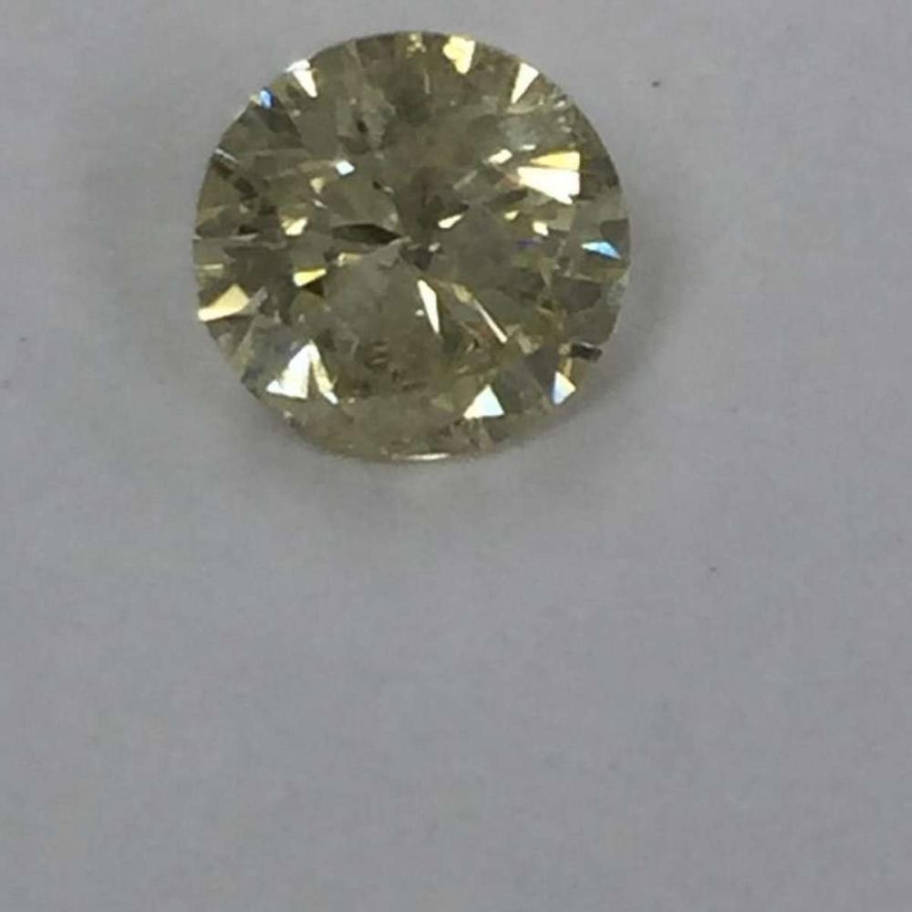 CERTIFIED 0.71 CTW SI2 NATURAL FANCY YELLOW ROUND DIAMOND #IRS87880