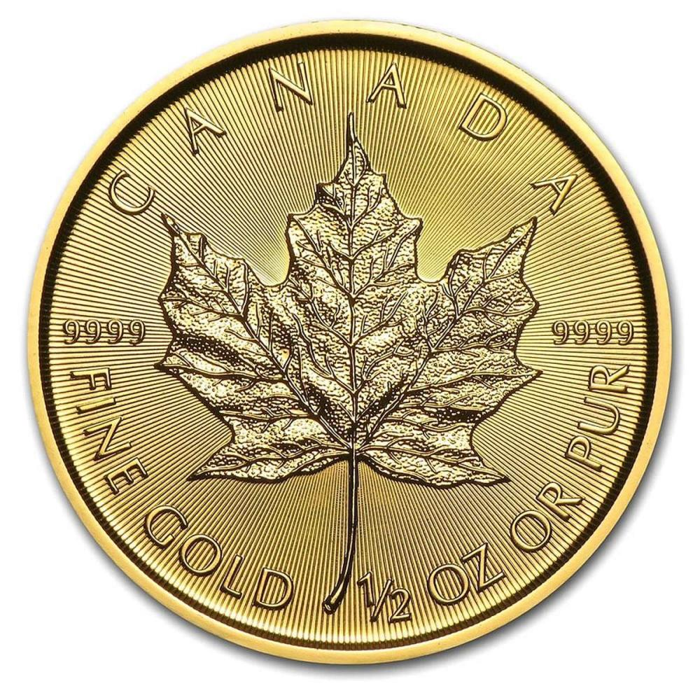 2019 1/2 oz Canadian Gold Maple Leaf Uncirculated #IRS80985