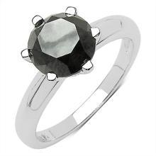 3.96 Carat Genuine Black Diamond 10K White Gold Ring #77682v3
