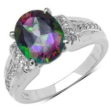 3.40 ct. t.w. Mystic Topaz and White Topaz Ring in Sterling Silver #77482v3