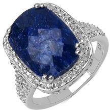 6.90 Carat Genuine Sapphire .925 Streling Silver Ring #78421v3