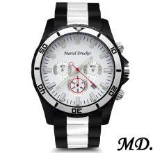 MARCEL DRUCKER Brand New Stainless Steel Chronograph Date Men Watch #77161v3