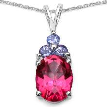 3.30 ct. t.w. Pink Topaz and Tanzanite Pendant in Sterling Silver #77252v3