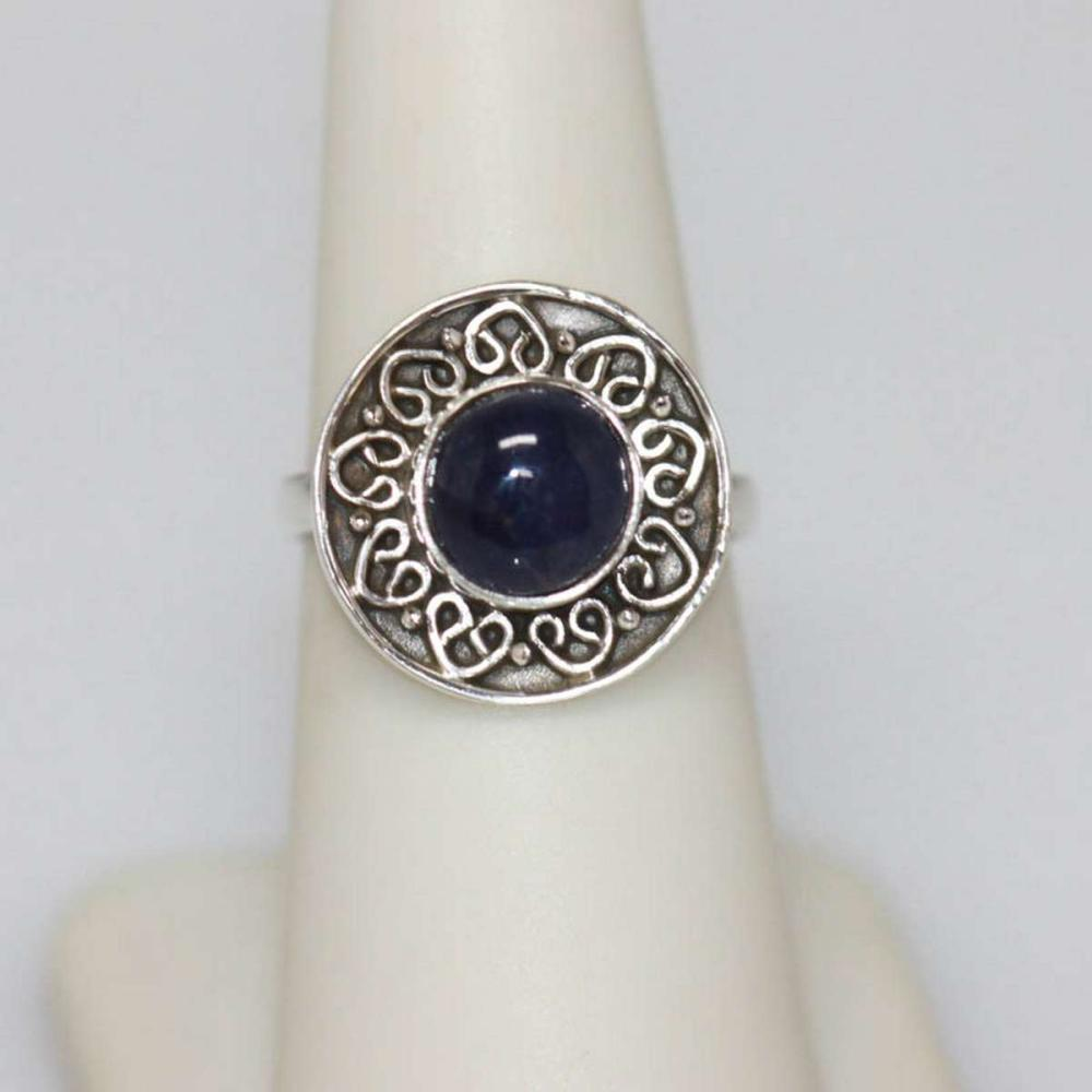 2.25 CTW Antique Style Tanzanite Round Ring .925 Sterli #IRS51167