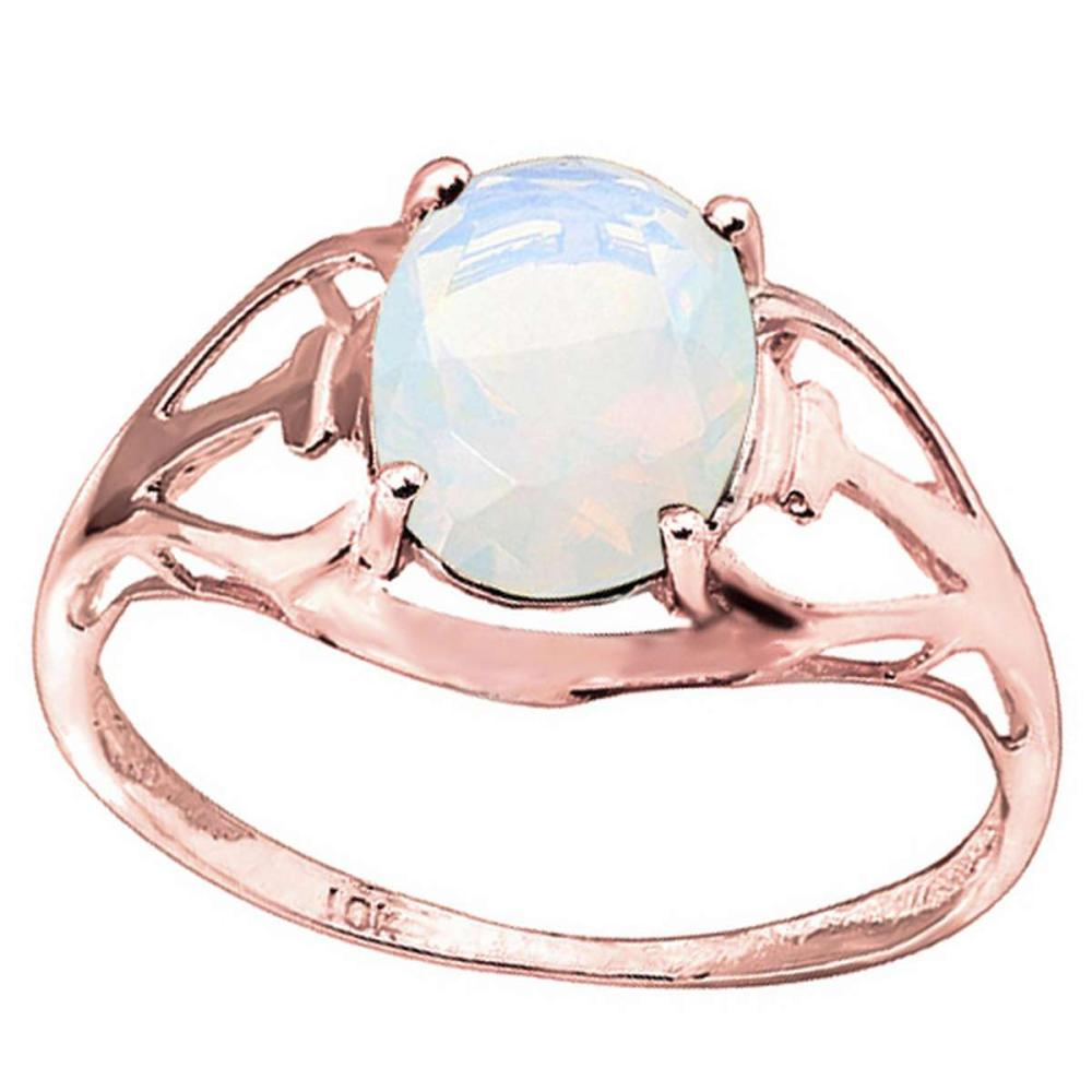 0.69 CT OPAL 10KT SOLID RED GOLD RING #IRS93822