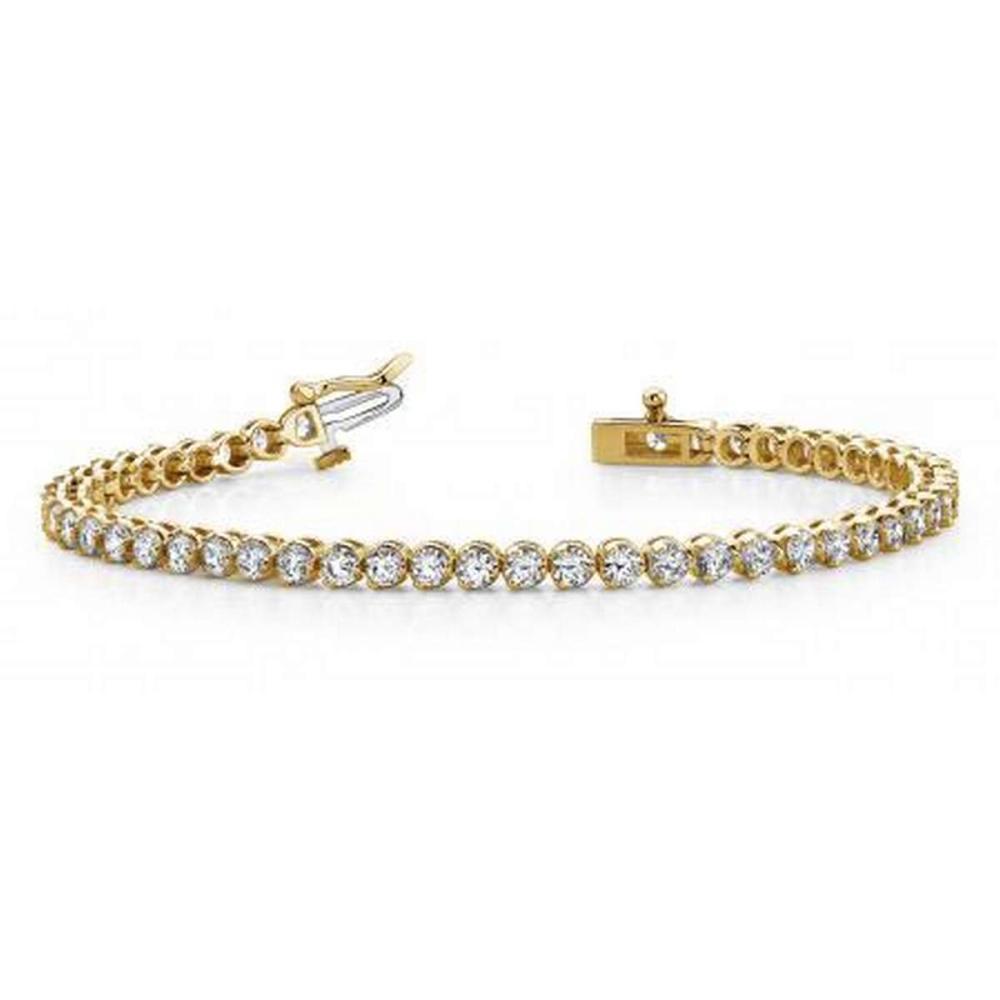 14K YELLOW GOLD 2 CTW G-H VS2/SI1 ROUND PRONG SET DIAMOND TENNIS BRACELET #IRS19922