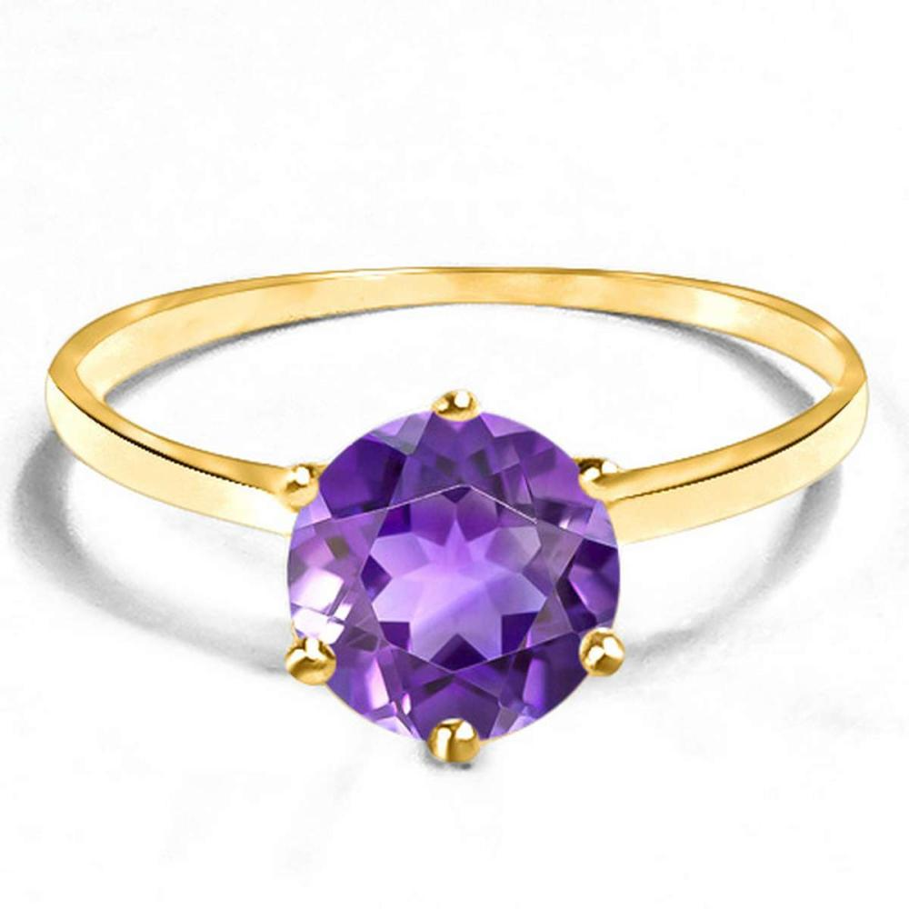 0.71 CT AMETHYST 10KT SOLID YELLOW GOLD RING #IRS93840