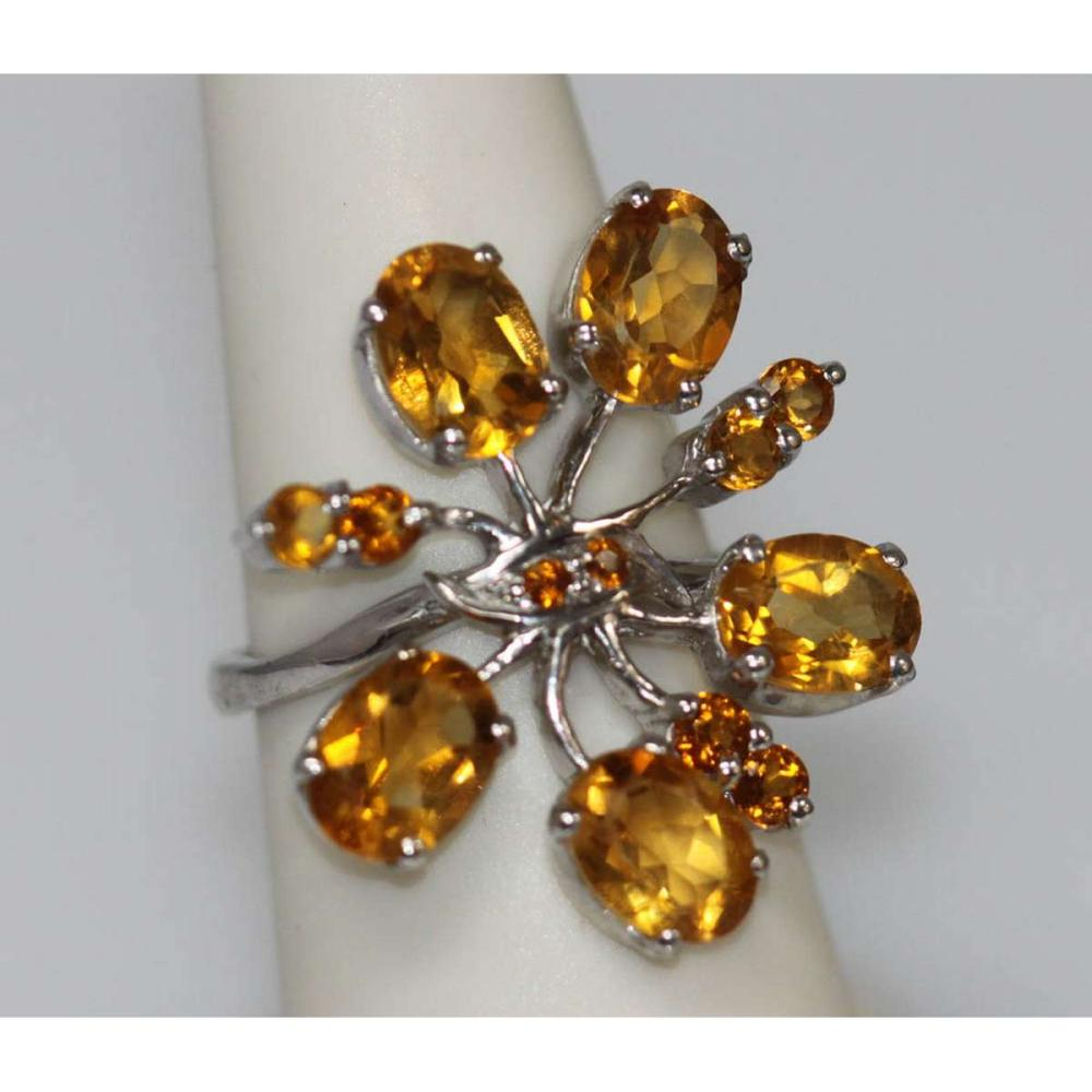 5.82 CTW CITRINE PENDANT .925 STERLING SILVER #IRS45368