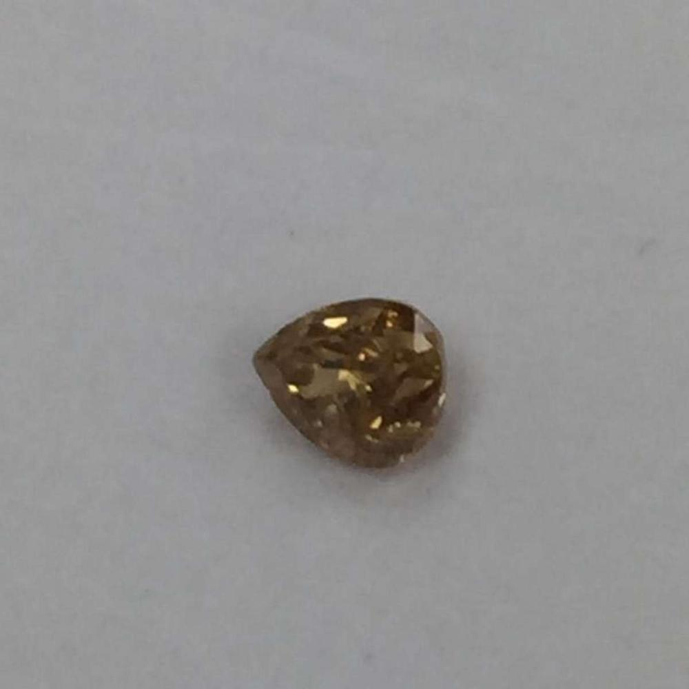 CERTIFIED 0.2 CTW I1 NATURAL FANCY BROWN PEAR DIAMOND #IRS87884