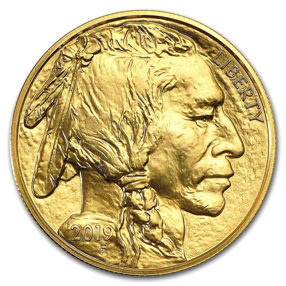 Uncirculated Gold Buffalo Coin One Ounce 2019 #IRS81036