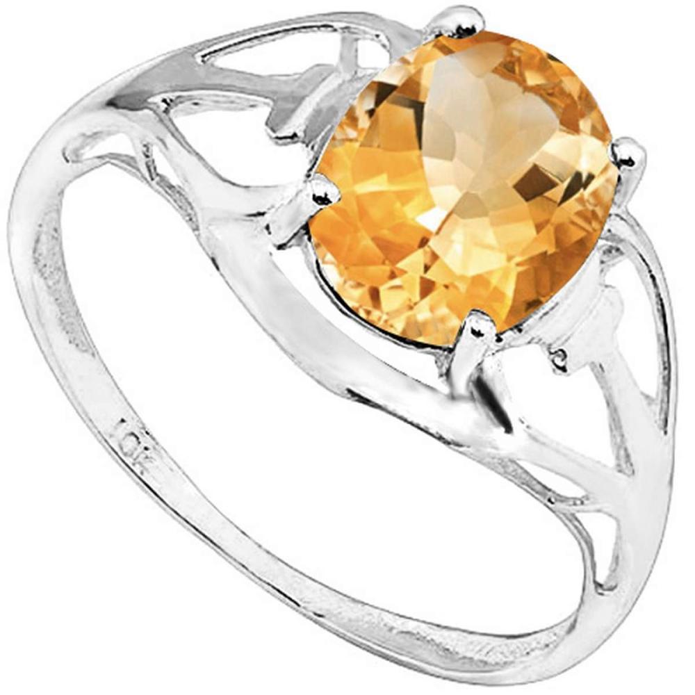 1.35 CT DARK CITRINE 10KT SOLID WHITE GOLD RING #IRS93799