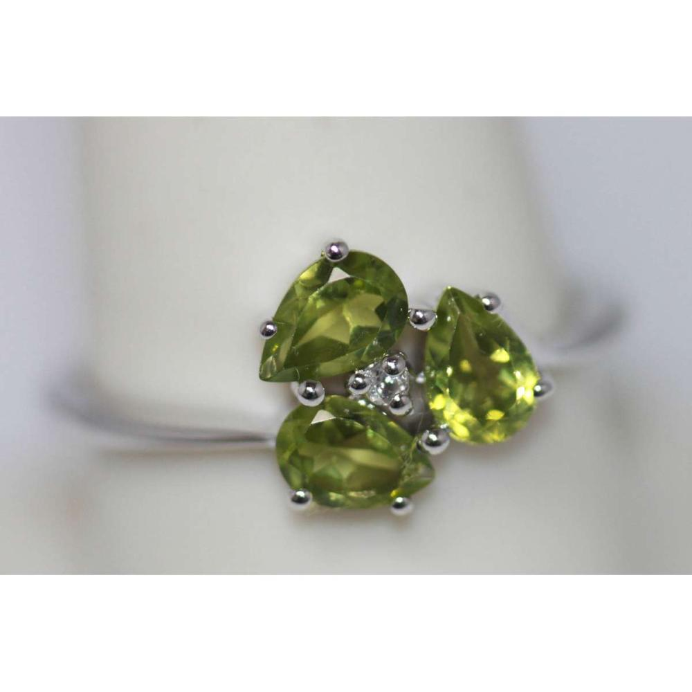 1.65 CTW Peridot  Ring .925 Sterling Silver #IRS45490