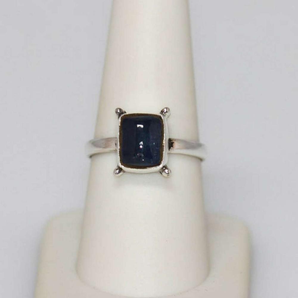 2.50 CTW Modern Style Tanzanite Rectangle Ring .925 Ste #IRS51168