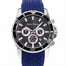 MARCEL DRUCKER Brand New Stainless Steel Chronograph Date Men Watch #77156v3