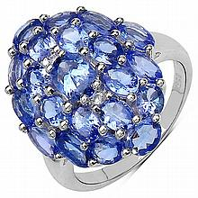 4.20 ct. t.w. Tanzanite and White Topaz Ring in Sterling Silver #78108v3