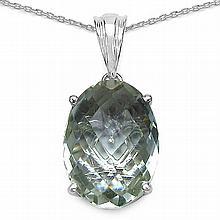 7.90 Carat Genuine Amethyst .925 Streling Silver Pendant #77277v3