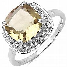 2.70 ct. t.w. Champagne Quartz and White Topaz Ring in Sterling Silver #77430v3