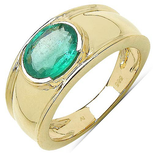 1 60 carat genuine zambian emerald 14k yellow gold ring 777