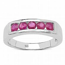 0.60 Carat Genuine Ruby .925 Streling Silver Ring #77478v3
