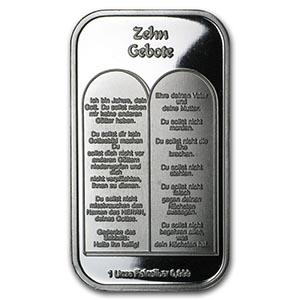 1 Oz Silver Bar Ten Commandments German Irs74769
