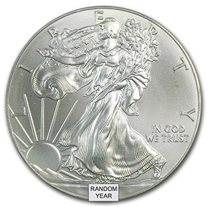 1 Oz Silver American Eagle Cull Damaged Etc Irs74883