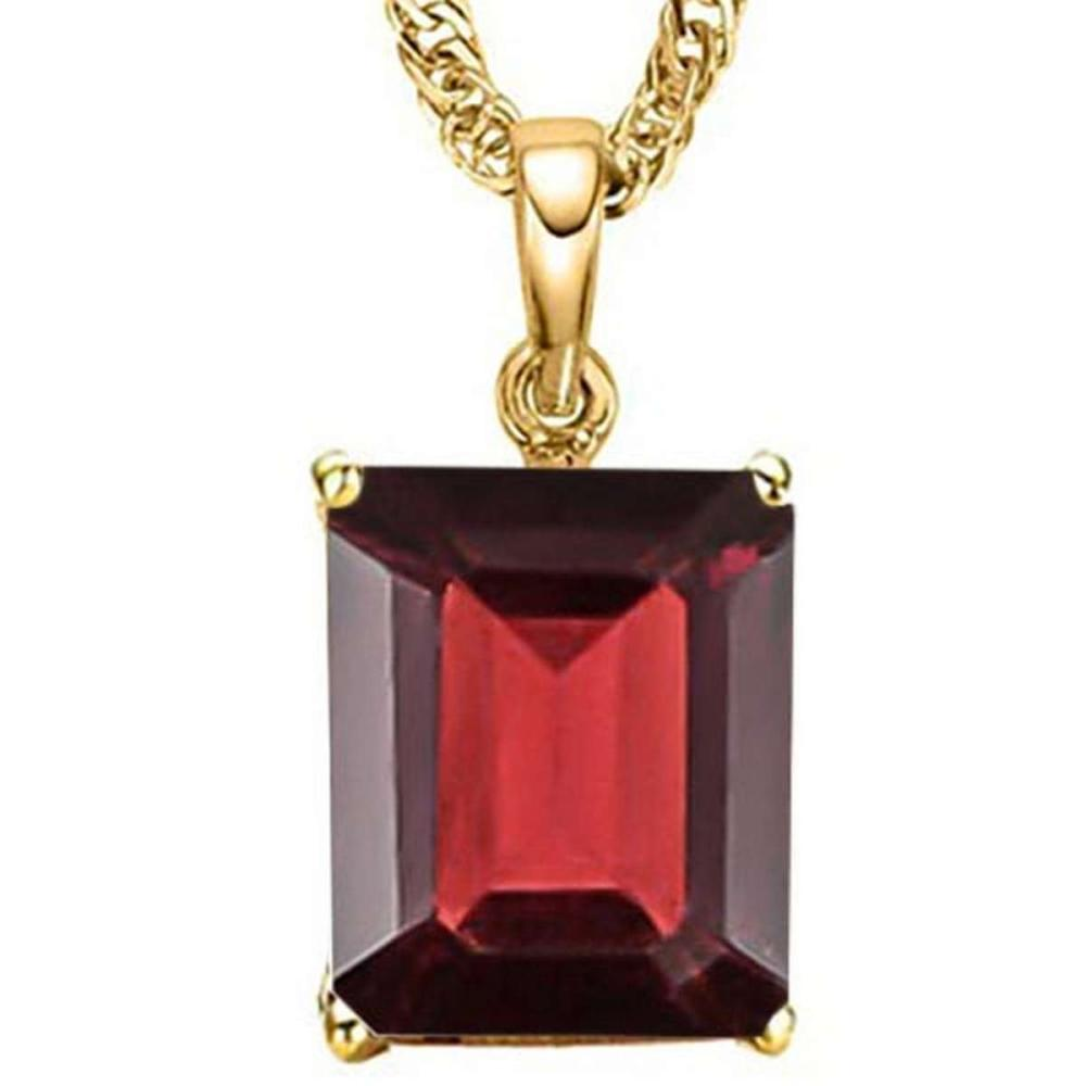 1.1 CTW GARNET 10K SOLID YELLOW GOLD OCTAGON SHAPE PENDANT #IRS56756