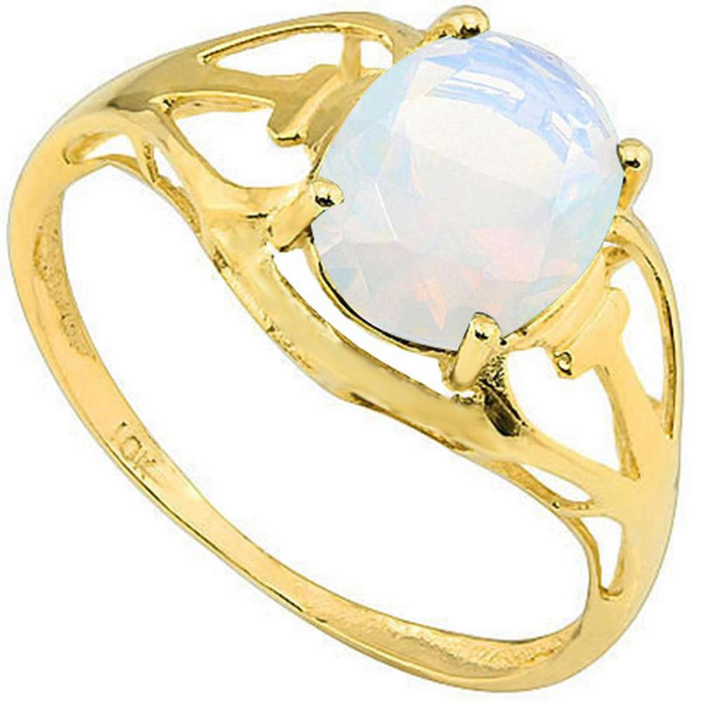 0.69 CT OPAL 10KT SOLID YELLOW GOLD RING #IRS93810
