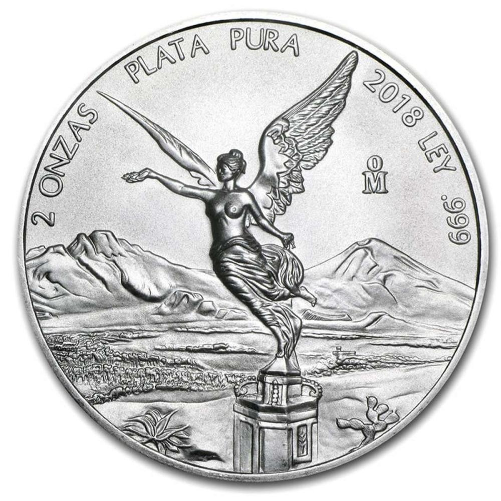 Mexican Silver Libertad 2 Ounce 2018 #IRS81491