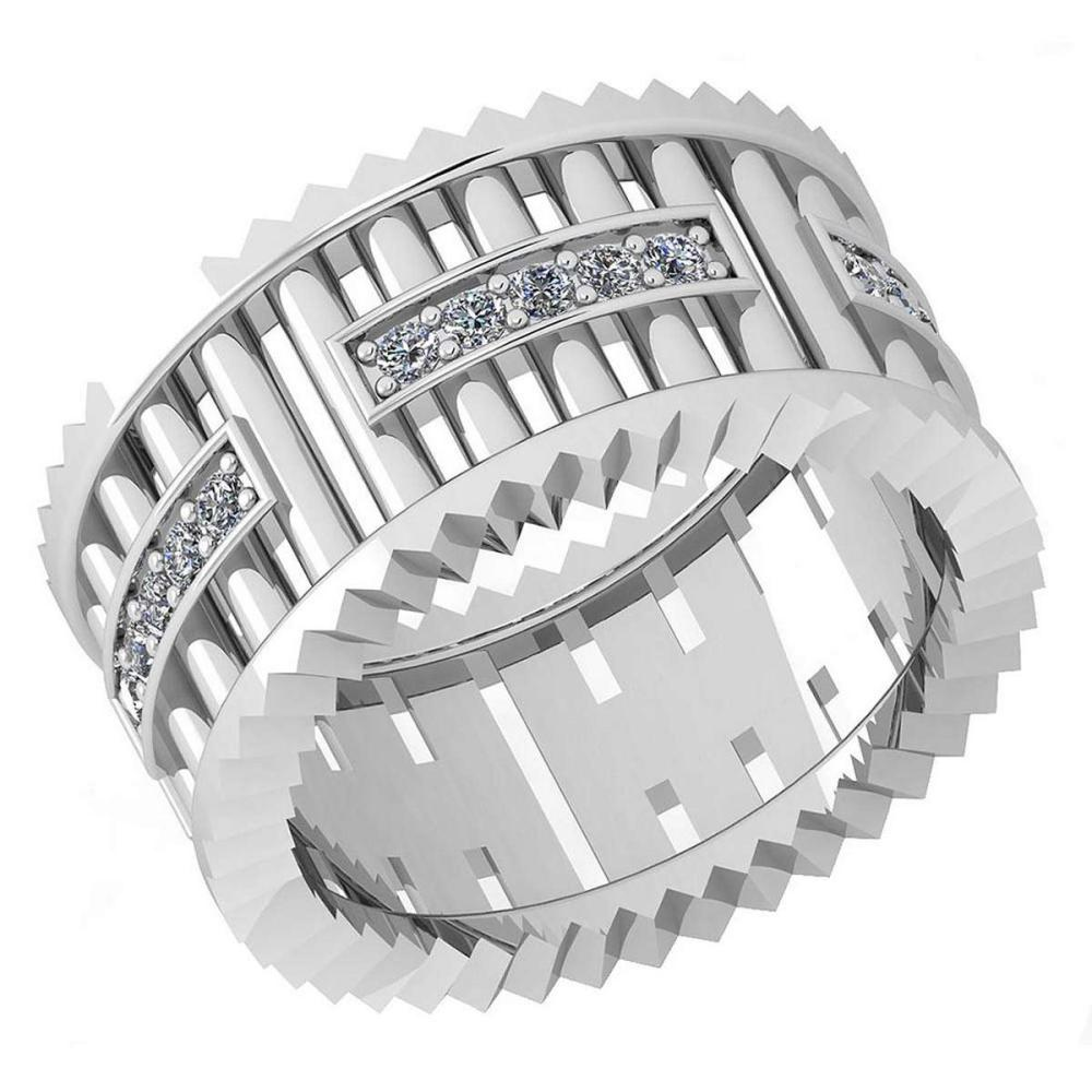Certified 0.35 Ctw Diamond VS/SI1 10K White Gold Band Ring Made In USA #IRS24332