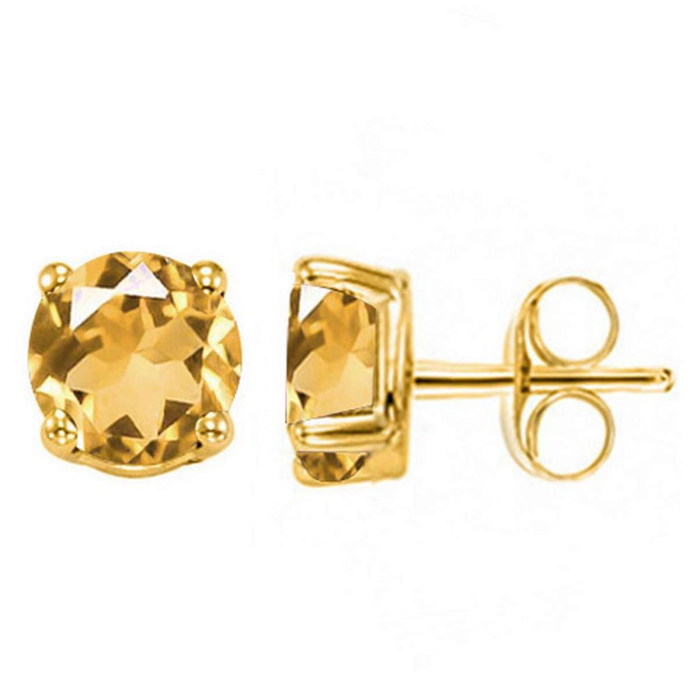1.45 CT CITRINE 10KT SOLID YELLOW GOLD EARRING #IRS93692