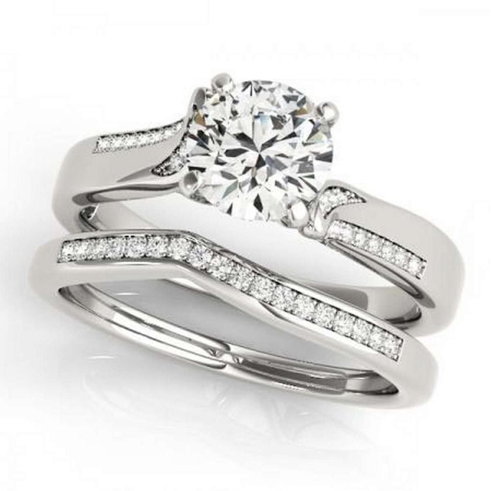 CERTIFIED 18KT WHITE GOLD 1.14 CTW G-H/VS-SI1 DIAMOND BRIDAL SET  #IRS86738