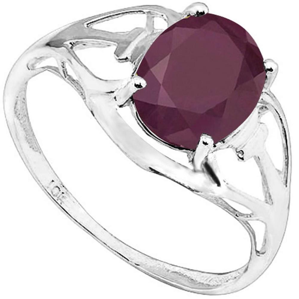 1.82 CT RUBY 10KT SOLID WHITE GOLD RING #IRS93789