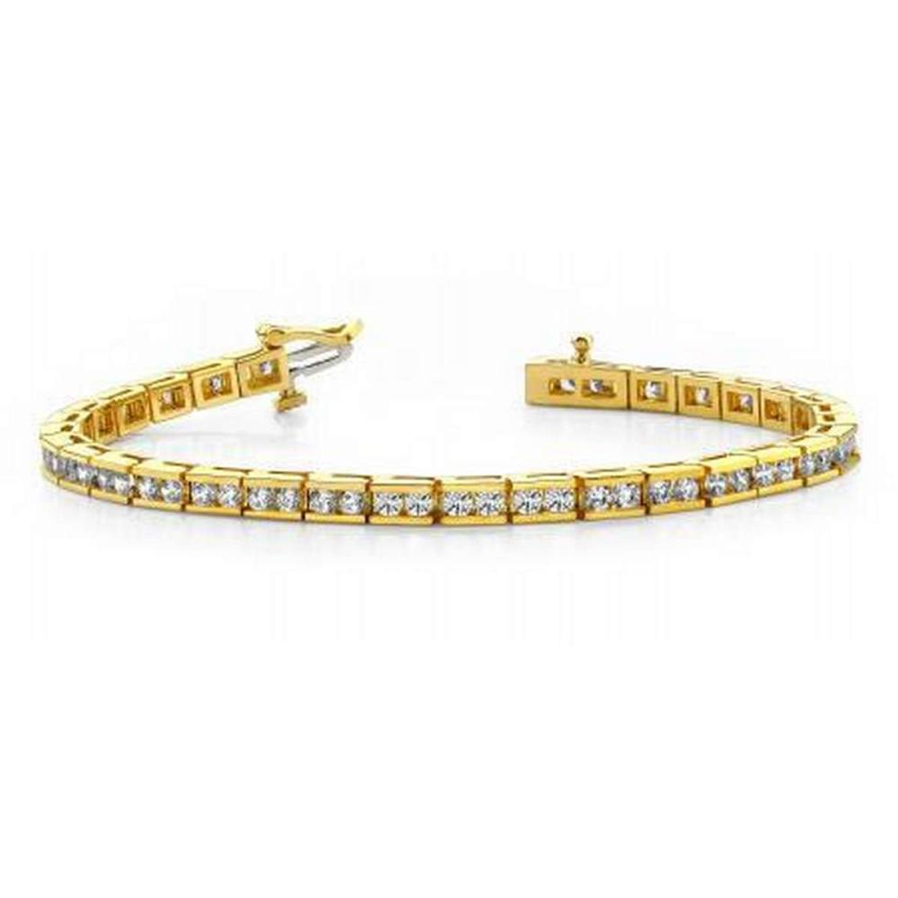 14KT YELLOW GOLD 4 CTW G-H SI2/SI3 TIMELESS ROADWAY DIAMOND TENNIS BRACELET #IRS20196