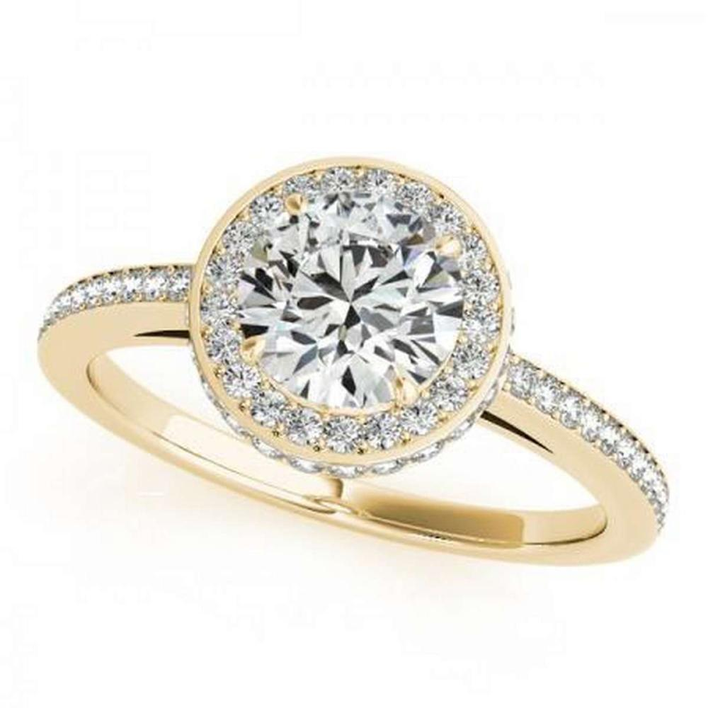 CERTIFIED 18K YELLOW GOLD 1.46 CT G-H/VS-SI1 DIAMOND HALO ENGAGEMENT RING #IRS86465