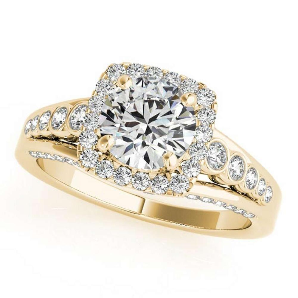 CERTIFIED 18K YELLOW GOLD 1.02 CT G-H/VS-SI1 DIAMOND HALO ENGAGEMENT RING #IRS86438