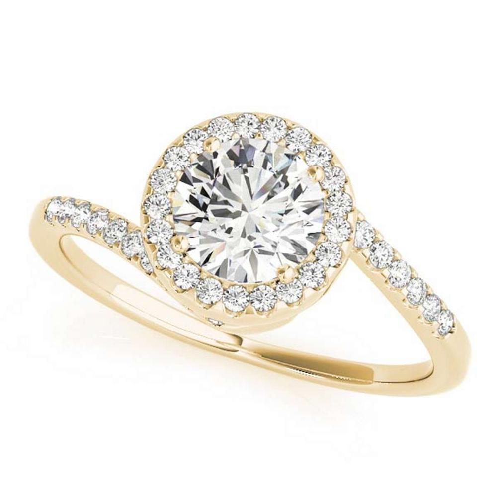 CERTIFIED 18K YELLOW GOLD 1.49 CT G-H/VS-SI1 DIAMOND HALO HALO ENGAGEMENT RING #IRS86432