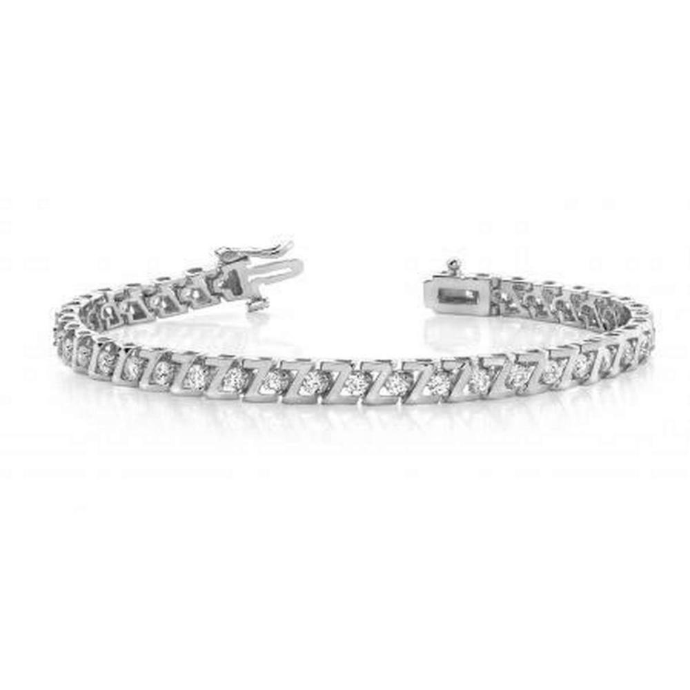 14KT WHITE GOLD 1 CTW G-H VS2/SI1 Z LINK PRONG SET DIAMOND TENNIS BRACELET #IRS20155