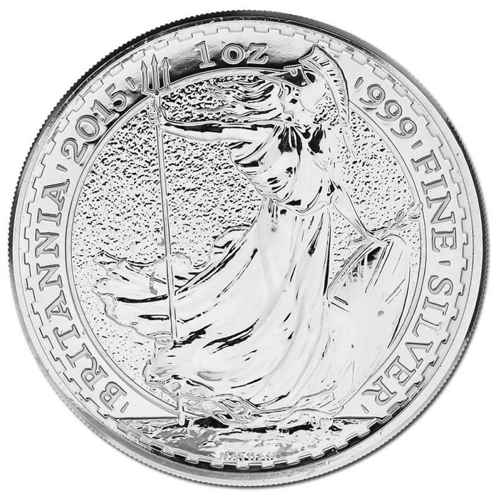 Uncirculated Silver Britannia 1 oz 2015 #IRS81495