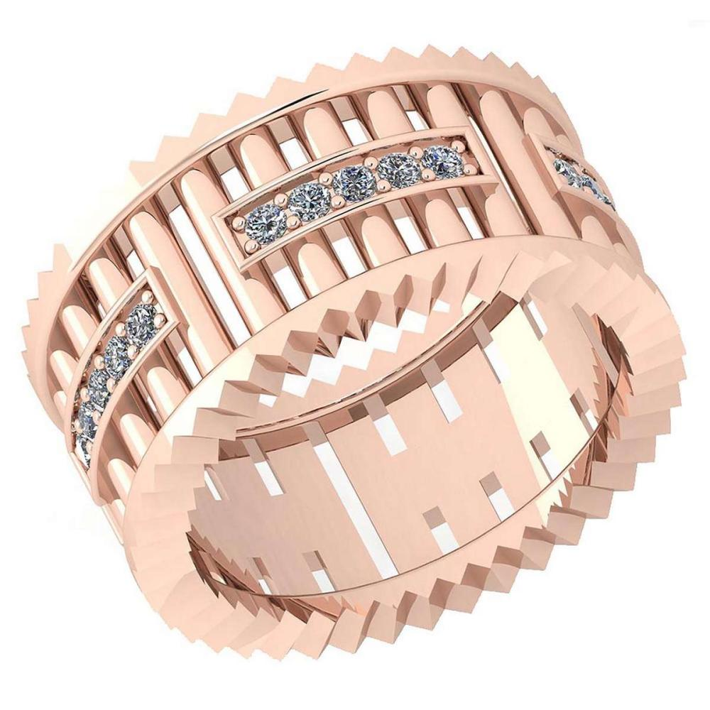 Certified 0.35 Ctw Diamond VS/SI1 10K Rose Gold Band Ring Made In USA #IRS24333