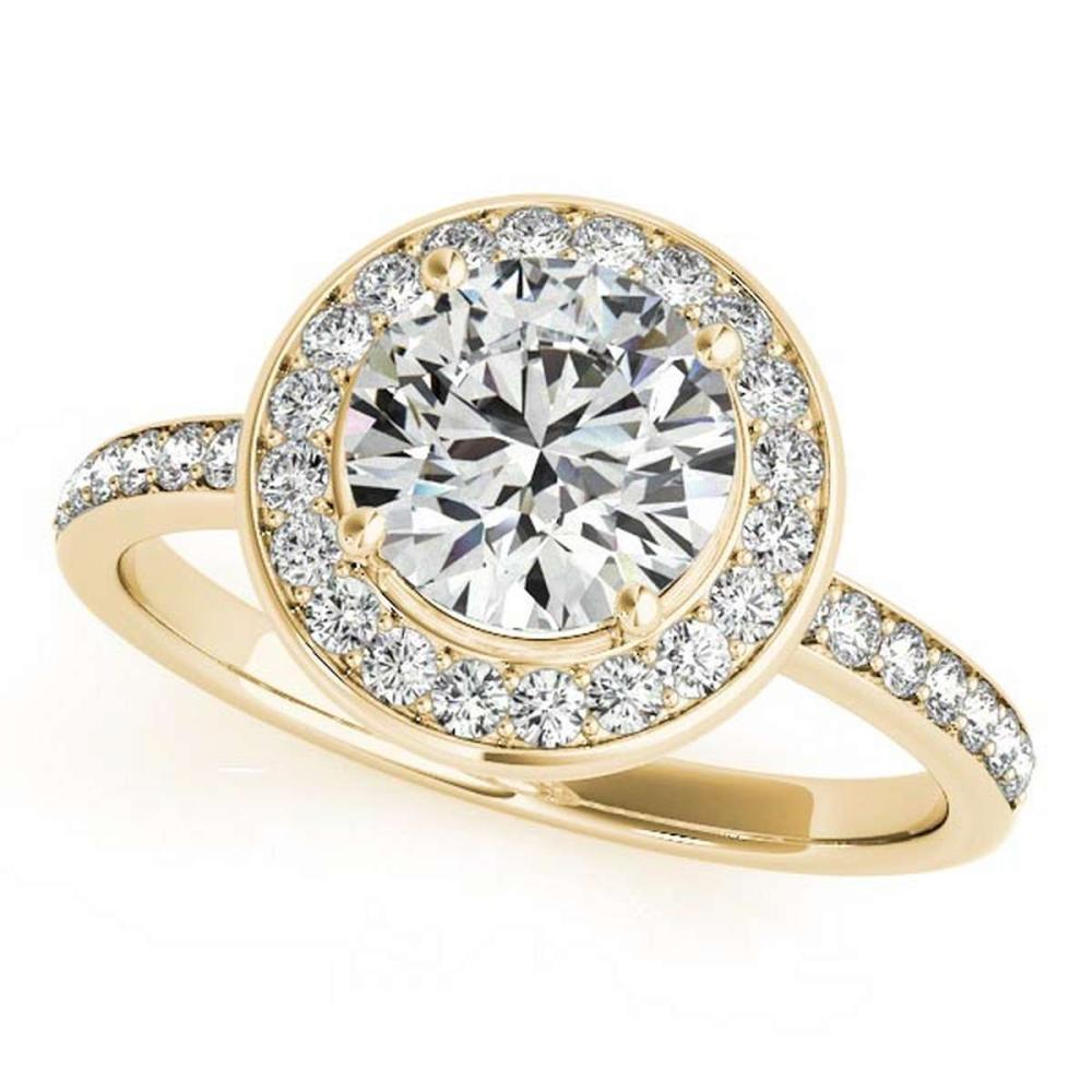 CERTIFIED 18K YELLOW GOLD 1.54 CT G-H/VS-SI1 DIAMOND HALO ENGAGEMENT RING #IRS86467